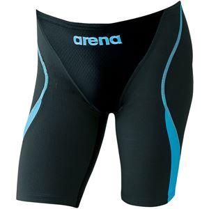 ARENA(アリーナ) AQUA-HYBRID ジュニアハーフスパッツ ARN8081MJ ブラック×グレイ×ブルーF 140cm