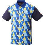 ニッタク(Nittaku)卓球アパレル SCALE SHIRT(スケールシャツ)NW2179 ブルー M