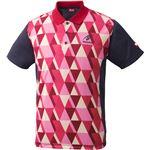 ニッタク(Nittaku)卓球アパレル SCALE SHIRT(スケールシャツ)NW2179 レッド 3S