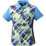 ニッタク(Nittaku)卓球アパレル FURACHECKS SHIRT(フラチェックスシャツ)ゲームシャツ(レディース)NW2181 ブルー 2XO