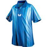 バタフライ(Butterfly) 卓球アパレル FLEBAL SHIRT(フレバル・シャツ)男女兼用 45260 ブルー 2XO