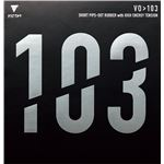 VICTAS(ヴィクタス) 卓球ラケット VICTAS VO>103 表ソフトラバー 20242 ブラック 1.8