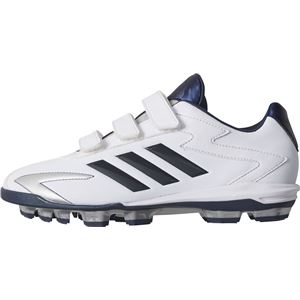 adidas(アディダス) adidas Baseball アディゼロ T3 ポイントKV(Junior) クリスタルホワイトS16×カレッジネイビー×シルバーメット CQ1300 【23.5cm】