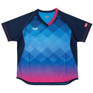 VICTAS TSP 卓球アパレル ゲームシャツ レディスリエートシャツ 女子用 032418 ブルー 2XL