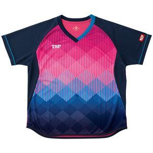 VICTAS TSP 卓球アパレル ゲームシャツ レディスリエートシャツ 女子用 032418 ピンク 2XL