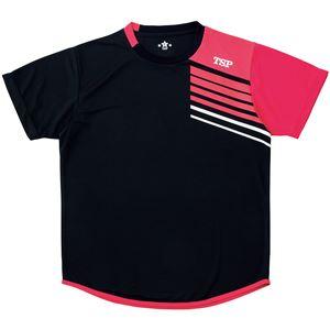 VICTAS TSP 卓球アパレル プラクティスシャツ TT-190シャツ 033411 ブラック 2XS