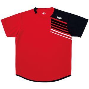 VICTAS TSP 卓球アパレル プラクティスシャツ TT-190シャツ 033411 レッド 2XL