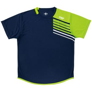 VICTAS TSP 卓球アパレル プラクティスシャツ TT-190シャツ 033411 ネイビー 2XL