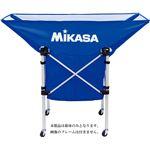 MIKASA(ミカサ)【幕体のみ】携帯用折り畳み式ボールカゴ(舟型)用幕体 ブルー【ACBB210BL】