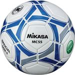 MIKASA(ミカサ)サッカーボール5号検定球 ホワイト×ブルー【MC55WBLN】