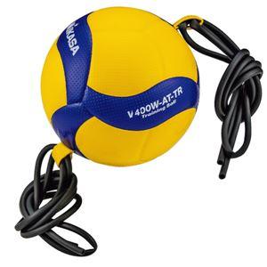 MIKASA(ミカサ)バレーボール トレーニングボール4号球 ゴムひも固定式アタック練習用【V400WATTR】 - 拡大画像
