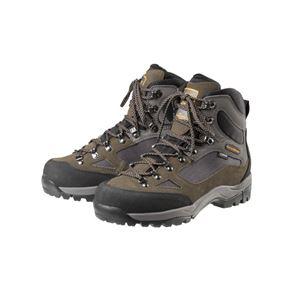 トレッキングシューズ/登山靴 【ブラウン 24.5cm】 ゴアテックス フルインソール 『GRANDKING グランドキング GK8X』 - 拡大画像