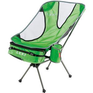 折りたたみ椅子 【グリーン】 69×44×49cm 耐荷重1030g 『LEKI レキ チェア・シリーズ サブ ワン ライトウエイト』 〔屋外〕 - 拡大画像