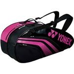 Yonex(ヨネックス) TEAM SERIES ラケットバック6 リュック付き(テニスラケット6本用) ブラック×ローズピンク