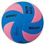 MIKASA(ミカサ)バレーボール 混合バレー試合球5号(ブルー×ピンク) 【MVB002BP】