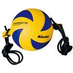 MIKASA(ミカサ)バレーボール トレーニングボール4号(ゴムひも固定式アタック練習用) 【MVA400ATTR】