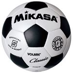 MIKASA(ミカサ)サッカーボール 検定球5号 ホワイト×ブラック 【SVC500WBK】