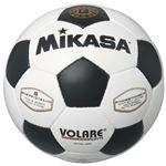 MIKASA(ミカサ)サッカーボール 検定球5号 ホワイト×ブラック 【SVC501WBK】