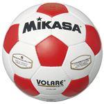 MIKASA(ミカサ)サッカーボール 検定球5号 ホワイト×レッド 【SVC501WR】