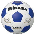 MIKASA(ミカサ)サッカーボール 検定球5号 ホワイト×ブルー 【SVC501WBL】