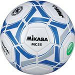 MIKASA(ミカサ)サッカーボール 5号検定球 ホワイト×ブルー 【MC55WBL】