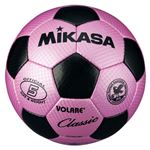MIKASA(ミカサ)サッカーボール 検定球5号 ピンク×ブラック 【SVC500PBK】