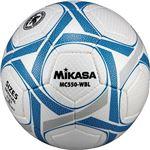 MIKASA(ミカサ)サッカーボール 検定球5号 ホワイト×ブルー 【MC550WBL】