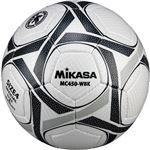 MIKASA(ミカサ)サッカーボール 検定球4号 ホワイト×ブラック 【MC450WBK】