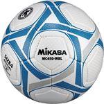 MIKASA(ミカサ)サッカーボール 検定球4号 ホワイト×ブルー 【MC450WBL】