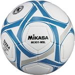 MIKASA(ミカサ)サッカーボール 検定球4号 ホワイト×ブルー 【MC451WBL】