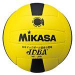 MIKASA(ミカサ)ドッジボール ドッジボール検定球3号 イエロー×ブラック 【MGJDB】