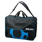 MIKASA(ミカサ)ボールバッグ サッカーボールバッグ(6個入) ブラック×ブルー 【FS6CBKBL】
