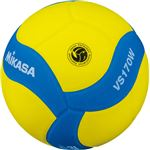 MIKASA(ミカサ) スマイルバレーボール5号球 FIVB公認スマイルバレー5号 イエロー×ブルー 【VS170WYBL】