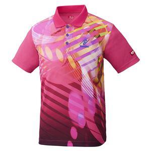 Nittaku(ニッタク) 卓球アパレル TOROPIC SHIRT(トロピックシャツ) 男女兼用 ピンク O