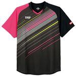 TSP(ティーエスピー) 卓球アパレル ゲームシャツ ピオネーラシャツ ブラック 4XL