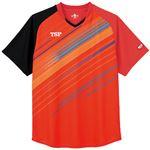 TSP(ティーエスピー) 卓球アパレル ゲームシャツ ピオネーラシャツ レッド 3XL