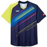 TSP(ティーエスピー) 卓球アパレル ゲームシャツ ピオネーラシャツ ネイビー M