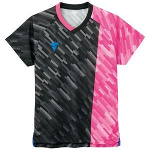 TSP(ティーエスピー) 卓球ウェア ゲームシャツ V-GS920 ピンク 2XL - 拡大画像