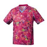 Nittaku(ニッタク) 卓球ゲームシャツ MOVESTAINED SHIRT ムーブステンドシャツ 男女兼用ピンクM