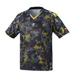 Nittaku(ニッタク) 卓球ゲームシャツ MOVESTAINED SHIRT ムーブステンドシャツ 男女兼用ブラックO