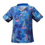 Nittaku(ニッタク) 卓球ゲームシャツ MOVESTAINED LADIES SHIRT ムーブステンド レディースシャツブルーL