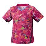 Nittaku(ニッタク) 卓球ゲームシャツ MOVESTAINED LADIES SHIRT ムーブステンド レディースシャツピンクL