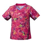 Nittaku(ニッタク) 卓球ゲームシャツ MOVESTAINED LADIES SHIRT ムーブステンド レディースシャツピンクSS