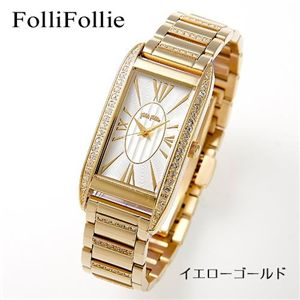 Folli Follie(フォリフォリ) パヴェブレスウォッチ WF7C020BPS/イエローゴールド - 拡大画像
