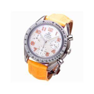 OMEGA(オメガ) 腕時計 スピードマスター レザー 3834 オレンジ - 拡大画像