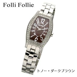 Folli Follie(フォリフォリ) トノーウォッチ WF5T084BPB/トノー・ダークブラウン - 拡大画像