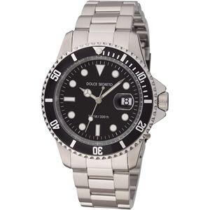 ドルチェ.セグレート 腕時計 コスモスブラックSB300BK - 拡大画像