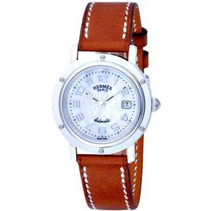 HERMES ELLE エルメス 腕時計 クリッパーホワイトパールCL5.410.212/VBA - 拡大画像