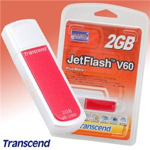 Transcend USB メモリー JetFlash V60 2GB - 拡大画像