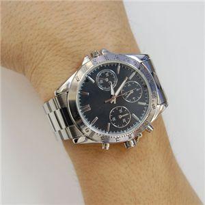 写真撮影対応 クロノ調 腕時計型ビデオカメラ VIDEO CAMERA WATCH メタルバンド - 拡大画像